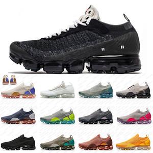 Nike Air Vapormax 2.0 mosca de los zapatos corrientes Hombres Mujeres de lujo diseñador Orca voltios gris símbolo de punto de las mujeres zapatillas de deporte manera deporte