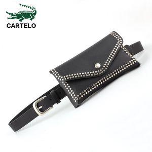CARTELO DE CUERO GENUINO DE CARTELO PARA PIN BOLSA TIENDO Cintura Ajuste Casual Mujer Cinturón Moda Femenina LJ200921