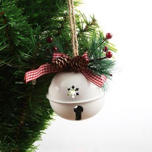 Рождество Jingle кованого железа Большой колокол украшения кулон Рождество Белл Подвеска Рождественские украшения Новый год партия Дети Игрушки DHA2213
