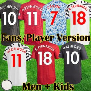 Maillot Manchester 2020 2021 United BRUNO FERNANDES MARTIAL POGBA GREENWOOD unie maillot de football RASHFORD enfants maillots kit Man Maillot De Football UTD 20 21 équipement