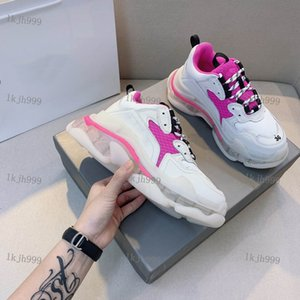 Balenciaga sneakers Haute qualité SIX-COUCHE Absorption Absorption Dames Sneakers Véritable Plate-forme Cuir Casual Chaussures Décontractées Mesdames Oldies Chaussures Olding Outdo