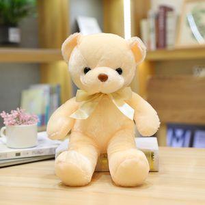 Fashion Lush Toys Girl's Favorite Gift 30CM Teddy Bear With Scarf Plush Toys Dolls For Birthday Gift