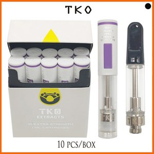 TKO Vape Cartridges EXTRACTS carts packaging for thick oil packaging Vaporizer leakproof 0.8 or 1.0ml ceramic coil Atomizer