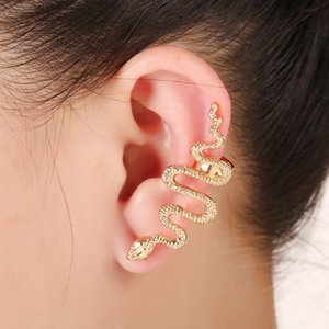 Jewelry Wholesale Fashion Ear Hanging Exaggerated Snake Shaped Ear Clip European and American Popular Personalized UnilateralClip