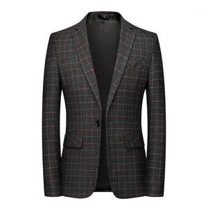 Корейский модный новенький прилив мужская мода плед блазера дизайн тонкий подходит красивый повседневная мужская куртка 5xL 6xL1