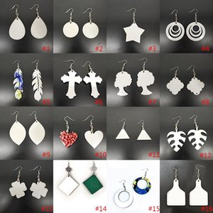Sublimation Blanks Earrings Blank Sublimation Earrings Party Gift DIY Valentines Day Gifts For Women Designer Earrings HHXD24352