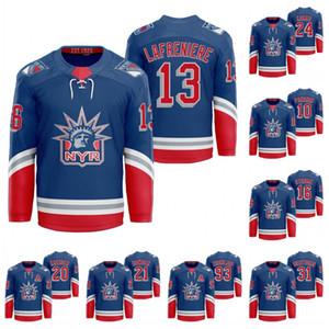 13 Alexis Lafreniere New York Rangers 2021 Classic Edition Liberty Kaapo Kakko Jacob Trouba Artemi Panarin Mika Zibanejad Brady Skjei Jersey