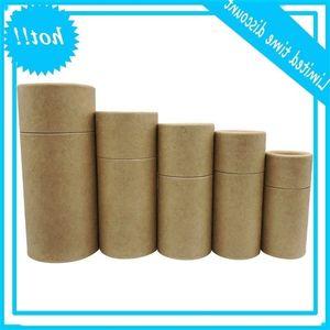 Cassa dei tubi di cartone Premium Confezione da regalo Kraft per bottiglia di olio essenziale 10ml - 100ml