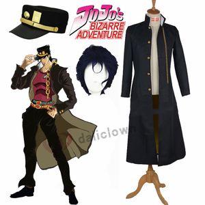 Cappotto del rivestimento Bizarre Adventure Jotaro Kujo Cosplay del Anime nero di Jojo cappello di partito di Halloween Outfits su ordine