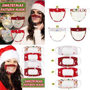 Sichtbare klare Fenster Ohne Holloop Maske Lippenlese transparente Masken Weihnachtsgesichtsmaske Lippe taub-stummgeschmeidiger taub Mundabdeckung FWB2559