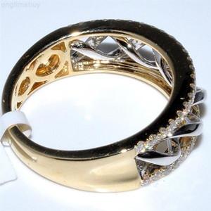 for 14K Gold Jewelry 2 carats Diamond Rings women Anillos Bague for Women Bizuteria bague jewellery bijoux femme anillos rings
