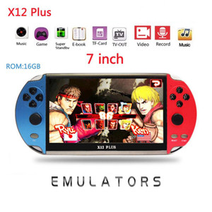 X12 플러스 비디오 게임 7inch LCD 더블 로커 휴대용 휴대용 레트로 게임 콘솔 비디오 MP5 플레이어 TF 카드 GBA / NES 10000 게임 LJ201204