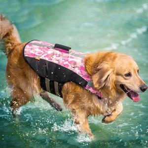 Pet life jacket large and medium sized dog cloth new swimsuit