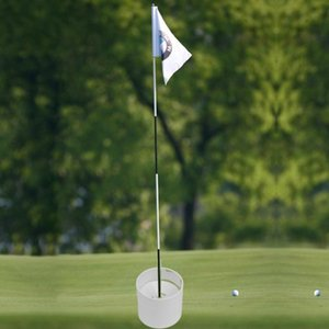 Golf Training Aids White Plastic Golf Hole Cup Putting Putter Flag Stick Yard Garden Training Backyard Practice Putting