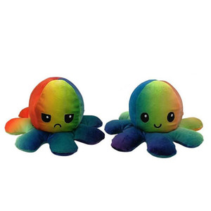 Pulpo Reversible Plush Stuffed Toy Soft Animal Home Accessories Cute Animal Doll Children Gifts Baby Companion Plush Toy H bbyZtW