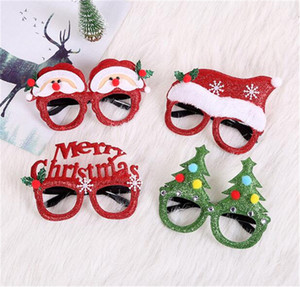 2020 2021 Kids Adult Christmas Glasses Xmas Santa Clause Tree Hat Merry Christmas Letter Cartoon Glasses Party Mask Ornaments Toys LY11092