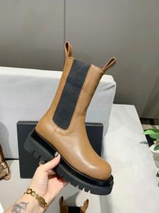 stivaletti a metà polpaccio stivali in TEMPESTA CUIR piattaforma delle donne stivali 2020new stivali delle donne del caricamento del sistema moda donna