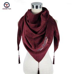 Ching yun novo triângulo lenços estilo moda russo padrão étnico inverno mulher cachecol engrossar quente wrap macio senhora xaill1