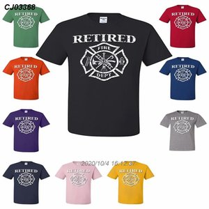 Retired Feuerwehrmann-T-Shirt Fireman Gift Fire Dept Badge Volunteer T-Shirt 3921410