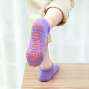 16 color children's antiskid socks baby trampoline socks cotton socks breathing elastic sports children's shoes boys and girls
