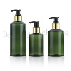 30pcs 100 150 200ml Empty Shampoo gold collar Pump plastic Bottle Lotion Shower GEL Travel container Eliquid Bottles