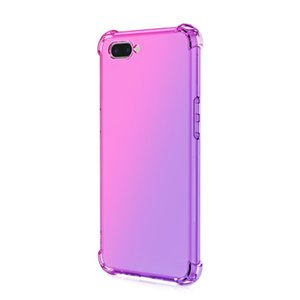 Per OPPO A5 A3S REALME C1 Airbag a quattro angoli Airbag Airbag Airport Color Clear TPU Case