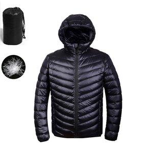 Autumn Winter puffer Duck Down Jacket Ultra light Men 90% Coat Waterproof Down Parkas Fashion mens collar Outerwear coat 201201