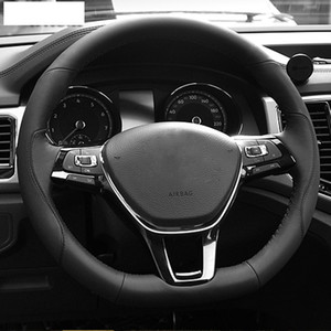 DIY Hand-stitched 100%Original Artificial Leather Car Steering Wheel Cover for Volkswagen VW Passat B8 Golf 7 Mk7 New Polo Jetta