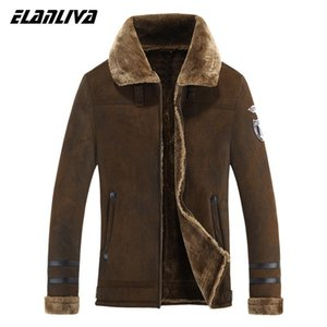 suede Jacket Men Winter Jackets and Coats Thickening Wool Windbreak Waterproof Warm Skin Lamb Fur Trench Coat Plus Size 3XL