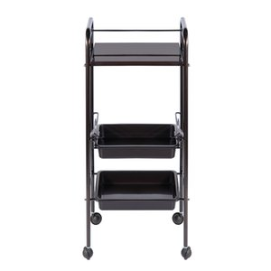Facial Trolley Beauty Salon Spa Storage Cart With 2-layer Plastic Capacity Tray And 360 Degrees Rolling Wheels Elitzia ET31415