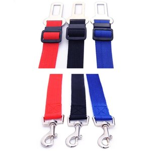 Seat Safety Belt Dog Adjustable Car Vehicle Safety Seat Belt 2.5cm Width Adjustable Length Dog Seatbelt Chain Dog Collars Leashes GGD2696
