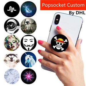 Fabrik-Großhandelskundenspezifisches LOGO für Handys Universal-Hand Phone Grip Pops Halter-Taschen-Sockel Flexible Gasbag Expanding Berg Pipsocket