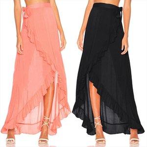 New Fashion Women Girls Clothes Long Maxi Chiffon Skirt Gown Beach Boho Summer Holiday Skirts