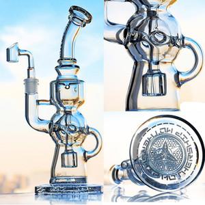 Tall Heady TORO Glass Beaker Bong Smoking Glass Water Pipes Shisha Hookah Recycler Oil Rigs Heady Glass Smoking Pipes Dab Rigs 14mm Banger