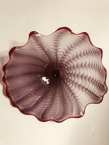 Free Shipping Fancy Blown Murano Glass Wall Plates Flowers Hanging Plates Wall Art