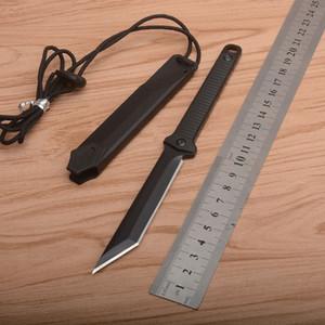 1 stücke Neu 4008 Survival Gerade Messer 8cr13mov schwarz Tanto Point Klinge Full Tang GRN Griff Feste Blade Messer mit Kydex