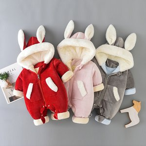 Newborn Baby Winter Hoodie Clothes Infant Baby Girls Boy Warm Climbing Outwear Romper Toddler Thickening Jumpsuit Overalls