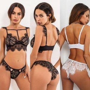 Ropa de dormir de las mujeres TheElfound Women Women Ropa interior Sujetador Sexy Lencería Encaje G-String Nightwear Ropa Set1