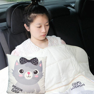 B-LIFE Bed Pillow Blanket Flannel Decorative Cusion Pillow with Blanket Quilt Two-in-one Multifuncional for Sofa Bed Car Travel