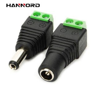 Female Male Dc Connector 2 .1 *5 .5mm Power Jack Adapter Plug Cable Connector For 3528  5050  5730 Led Strip Light