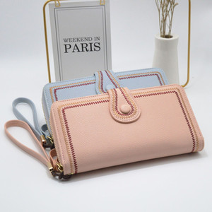 2020 new fashion long wallet long zipper mobile phone bag manufacturers supply
