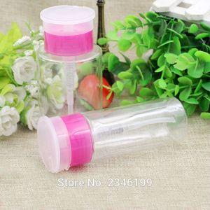 100ml 170ml 30pcs lot Empty Nailing Press Pump Bottle, Nail Polish Remover Alcohol Refillable Plastic Beauty