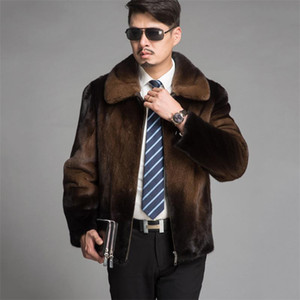 2020 new men's mink coat fashion imitation mink coat imitation fur men's casual jacket high quality Large size men YH686