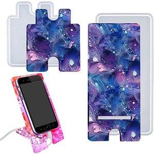 Mobile Phone Stand Silicone Resin Molds Phone Holder Epoxy Resin Moulds DIY Craft Cell Phone Bracket Silicone Mold Kimter-C199FZ