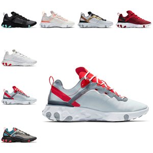 Cheap The New Reagir elemento 55 UNDERCOVER Running Shoes Equipe Red Orbit Bred Posto de Colorblock épico Designer Sports SneakersColor correspondência