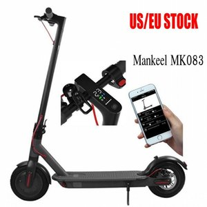 Mankeel EU US Stock Bluetooth Smart APP Control Folding Electric Scooter 8.5 Inch Tire Ebike Aluminium 2 Wheel Electric Bike Scooter MK083