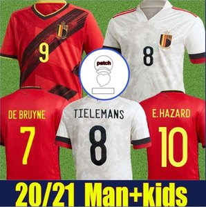 2020 2021 Belgique Jersey National Team Uniforms Uniformes Kids Lukaku Hazard De Bruyne Football Jersey H.Vanaken Tielemans Soccer Jersey 20 21
