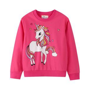 2020 Autumn Winter Girl Sweatshirts Unicorn Pullover Sweater Shirts Crewneck Long Sleeve Tops Shirts Kids Toddler Girl Boy Sweatshirts