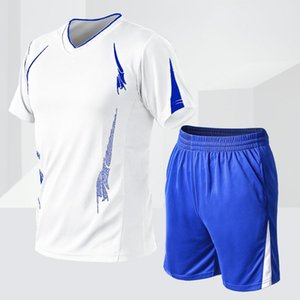Men Leisure Set Quick-Dry Sports Fitness Clothes Running Training T-shirt Men's Basketball Tight Short-Sleeved Large Size