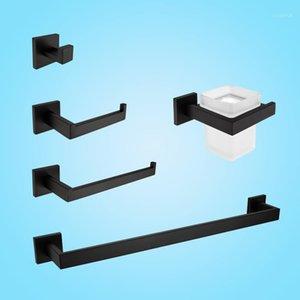 Черный матовый кулон для ванной комнаты 5 шт. SUS304 из нержавеющей стали для ванной комнаты для ванной комнаты для ванной комнаты мыльные блюда бумаги Hodelr Bath Accessoreis Cook1
